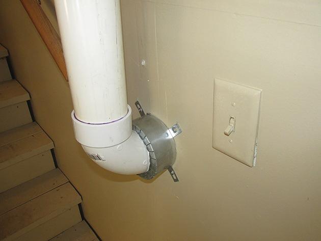Пожарозащитна яка за системи за намаляване на радона
